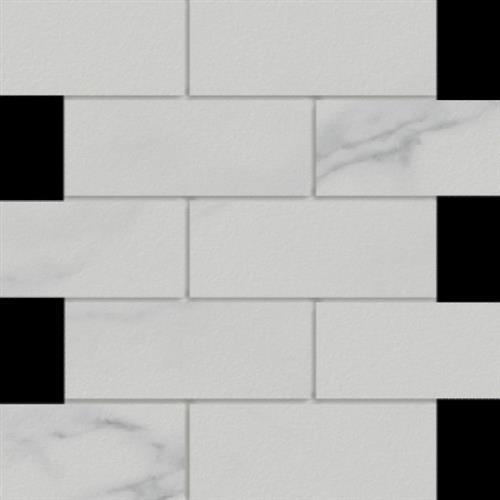 Marmi in Statuario  Mosaic 2x6 - Tile by Happy Floors