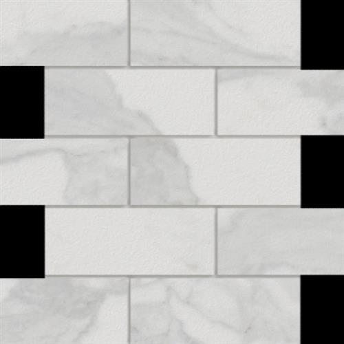 Marmi in Calacatta  Mosaic 2x6 - Tile by Happy Floors