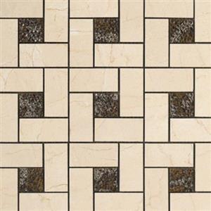 CeramicPorcelainTile CremaMarfil 5692-G PinwheelDecoMosaicSemi-Polished