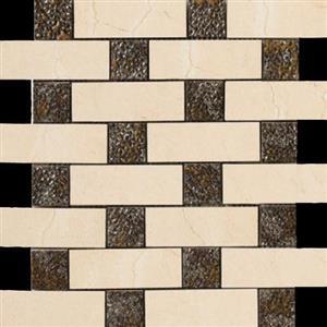 CeramicPorcelainTile CremaMarfil 5693-G BrickDecoMosaicSemi-Polished