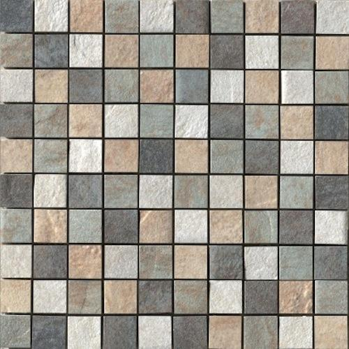 Eternity in Mosaic MIX   Gold/ Almond/ Forest/ Multi - Tile by Happy Floors