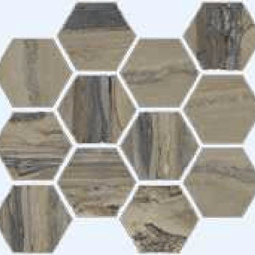 Exotic Stone Tundra Polished - Hexagon