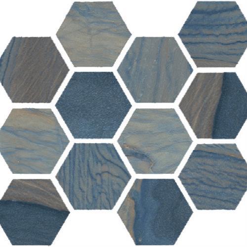 Macaubas Azul Anticato - Hexagon