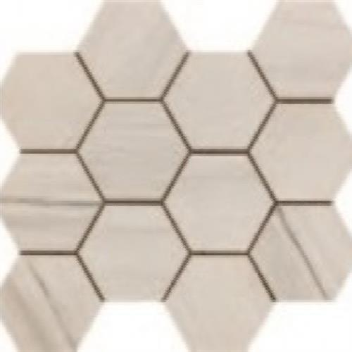 Paint Stone White - Hexagon