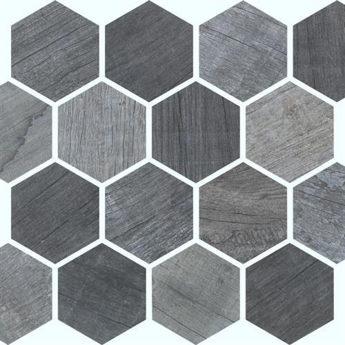 Palm Cobalto - Hex Mosaic
