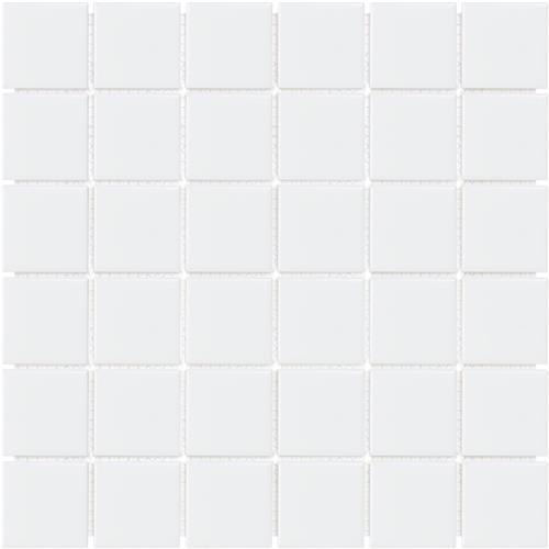 Soho Series White Matte 2X2 Mosaic