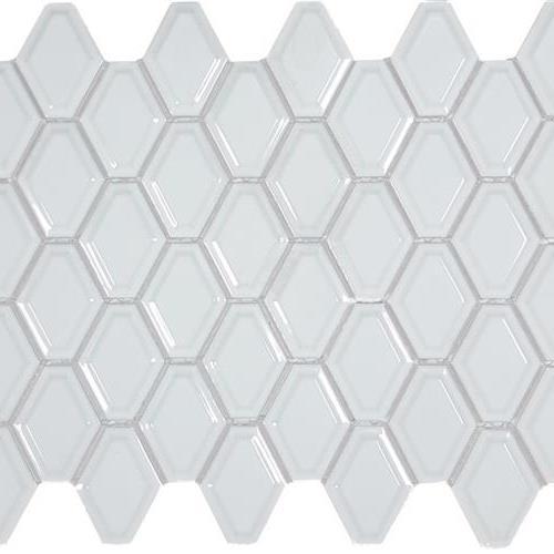 Soho Series White Convex Mosaic