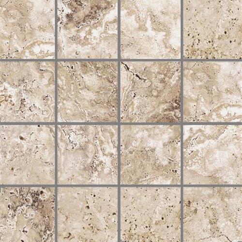 Pietra Roma Beige 2X2 Mosaic