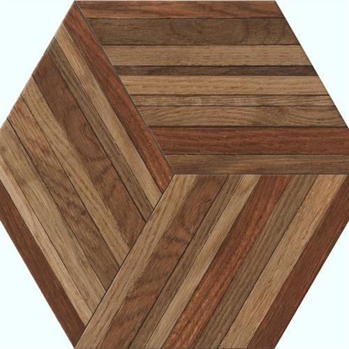 Wood Design in Cherry   Hexagon - Tile by Tesoro