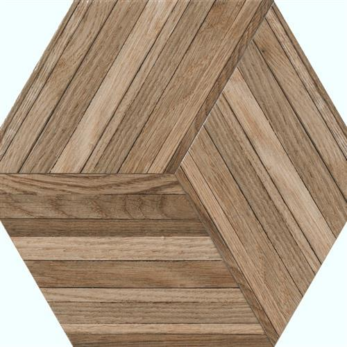 Wood Design in Deck   Hexagon - Tile by Tesoro