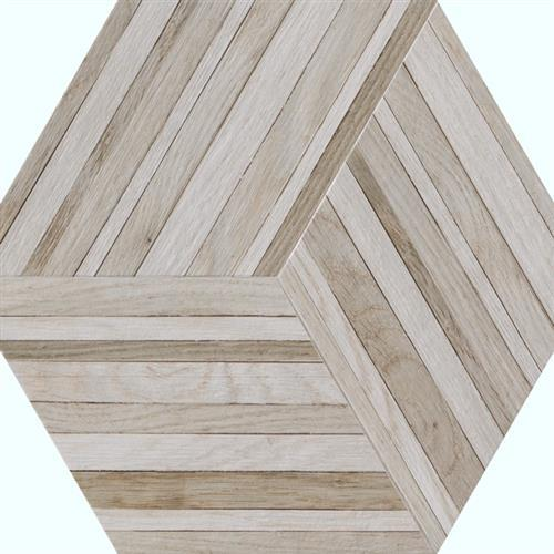 Wood Design in Nougat   Hexagon - Tile by Tesoro