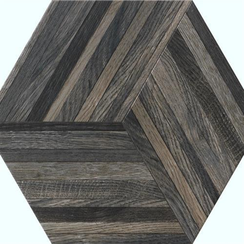 Wood Design in Smoke   Hexagon - Tile by Tesoro