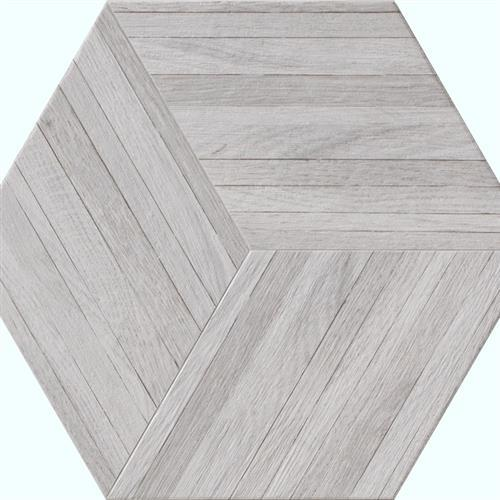Wood Design in White   Hexagon - Tile by Tesoro