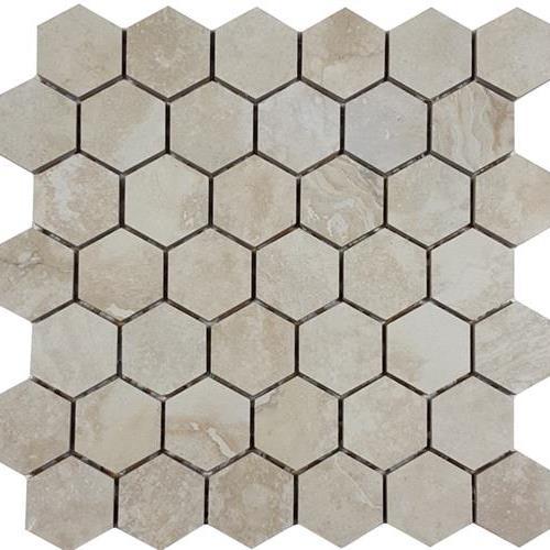 Progress Mosaics Beige 2 Hexagon Mosaic