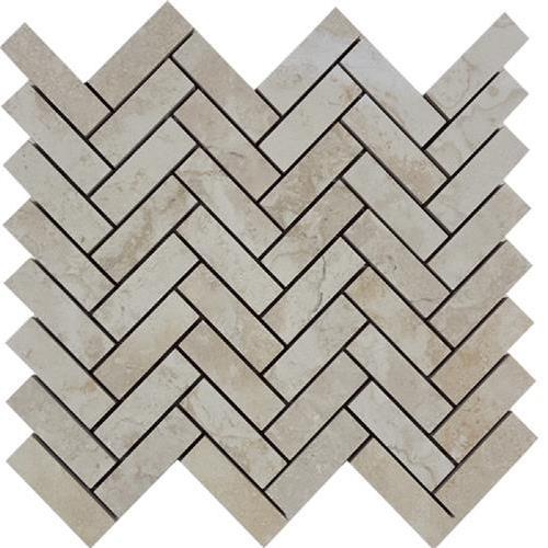 Progress Mosaics Beige Herringbone Mosaic