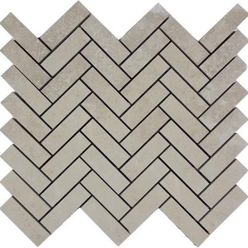 Progress Mosaics Almond Herringbone Mosaic