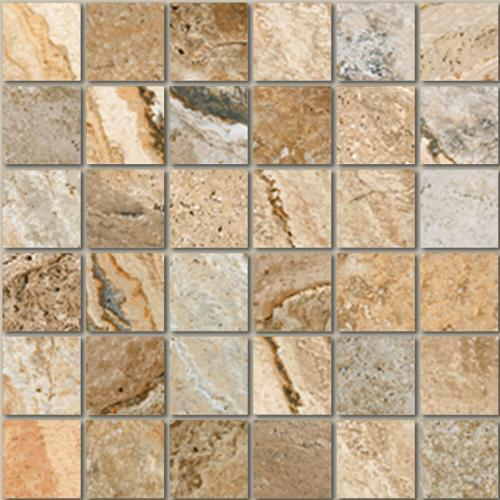Mikonos Stone in Multicolor Mosaic - Tile by Tesoro