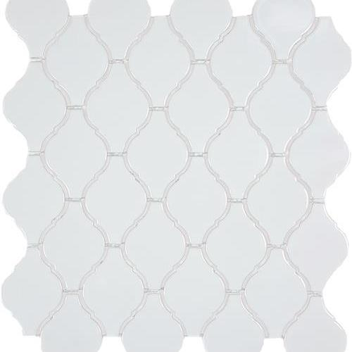 Soho White Arabesque Glossy