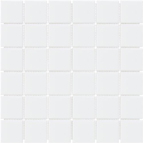 Soho White Matte 2X2 Mosaic