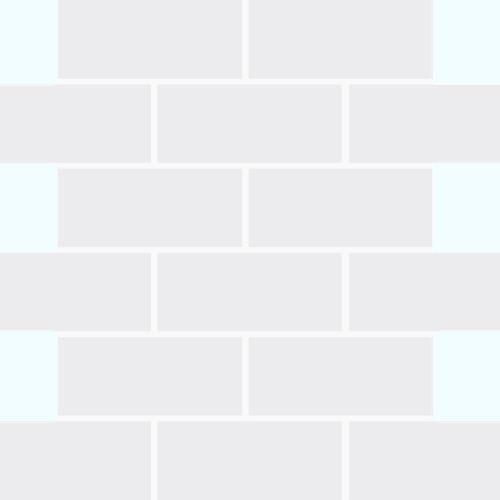 White - Mosaic 2x4