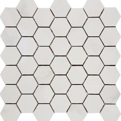 Bianco Statuario Hexagon 2 Mosaic