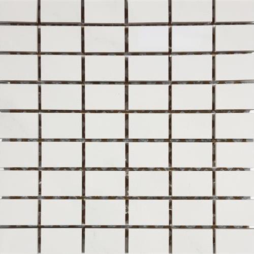 Bianco Statuario Stacked 5 Mosaic