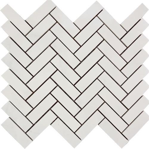 Bianco Statuario Herringbone Mosaic