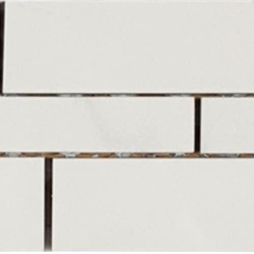 Bianco Statuario Random Linear Muretto Mosaic