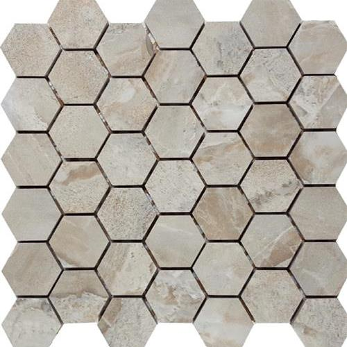 Marble Mirror Grigio Chiaro 2 Hexagon Mosaic