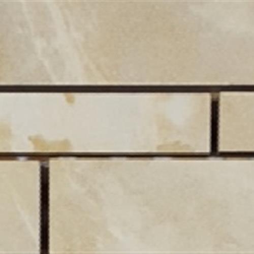 Marble Mirror Beige Random Linear Muretto Mosaic