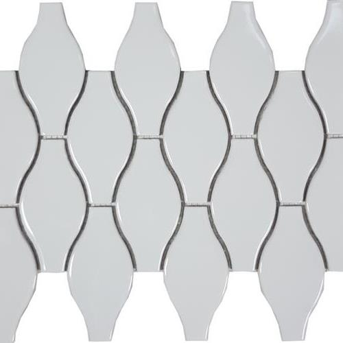 Solid White Bottle Glossy Mosaic