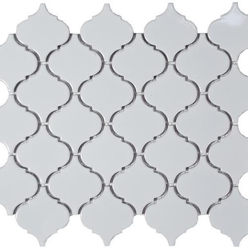 Solid White Lantern Glossy Mosaic