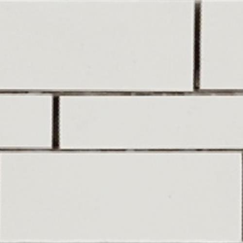 Super White Random Linear Muretto Mosaic