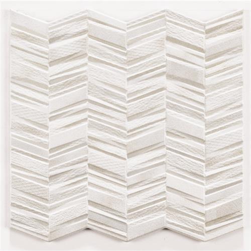 Chevron in White - Tile by Tesoro