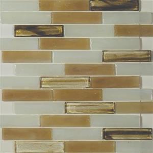 GlassTile ArtisanGlassBlends HIRHIARCA14LB Carlyle-Mosaic1x4