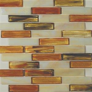 GlassTile ArtisanGlassBlends HIRHIARKE14LB Kensington-Mosaic1x4