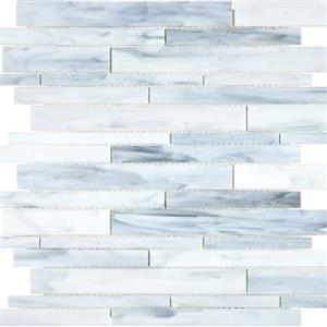 GlassTile Baroque ANABAROCARRRANDO Carrara-Random