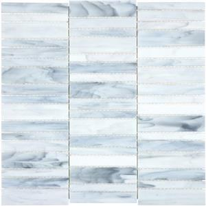 GlassTile Baroque ANABAROCARRSTACK Carrara-Stacked