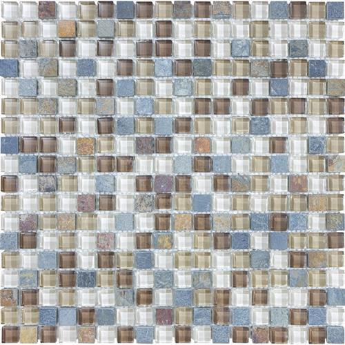#17 Stone & Glass Mosaic