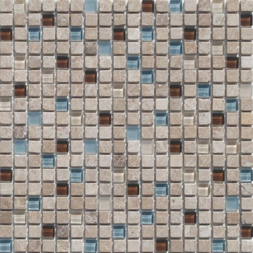 Mini Mosaics 6 Stone  Glass Mosaic