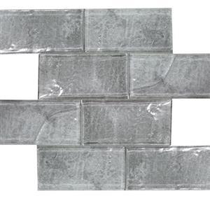 GlassTile Revere TASREVEASH36 Ash-3x6