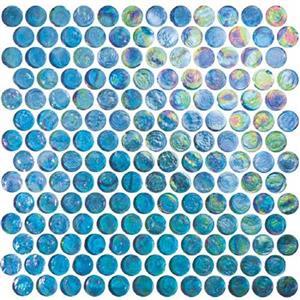 GlassTile ReflectionsSolids KEEKELUEX21330 Excalibur-RoundMosaic