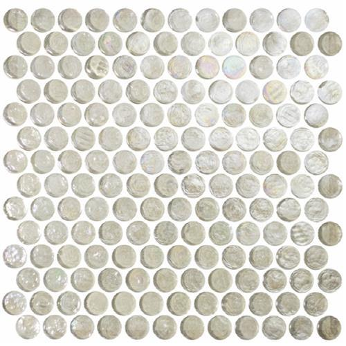 Reflections Solids Glacial - Round Mosaic