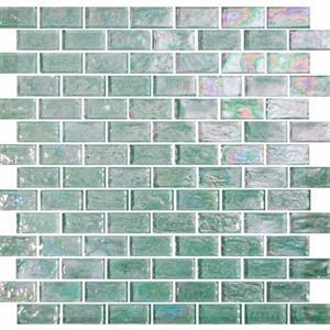 GlassTile ReflectionsSolids KEEKELUTO21221 Tourmaline-1x2