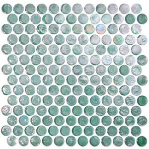 GlassTile ReflectionsSolids KEEKELUTO21321 Tourmaline-RoundMosaic