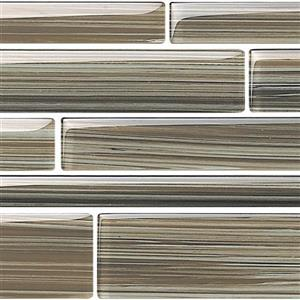 GlassTile Strata BELSTRLUMB524 Umber