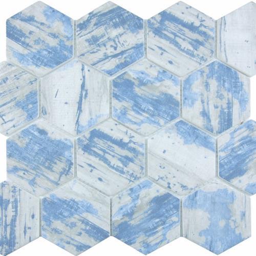 GlassTile Bark Glass Aspen - Hex  main image
