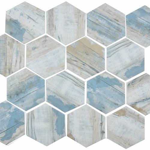 GlassTile Bark Glass Bay - Hex  main image