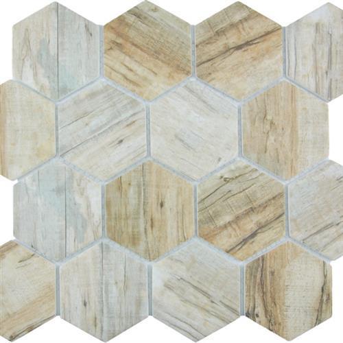 GlassTile Bark Glass Cinnamon - Hex  main image