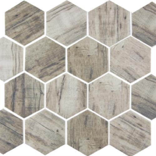 GlassTile Bark Glass Linden - Hex  main image